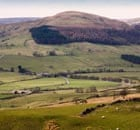 Uplands farming: Rural landscape of Farmland and peat moorland