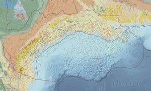 Abandoned oil wells make Gulf of Mexico 'environmental ... on ports in gulf of mexico map, ships in gulf of mexico map, buoys in gulf of mexico map,