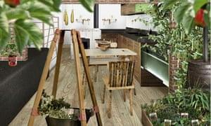 Ikea elementra green kitchen of 2040