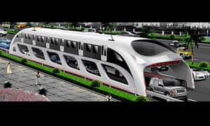 """Shenzhen Huashi Future Car-Parking Equipment to build this futuristic bus """"3D Express Coach"""""""