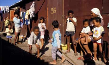 MDG4 mortality Children play in a shantytown of Rio de Janeiro Brazil
