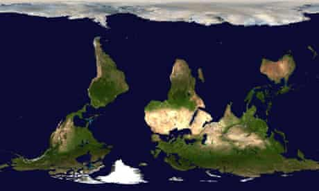 MDG : South-North view of the world's map