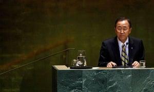 MDG : United Nations Secretary General Ban Ki-moon opens the Millennium Development Goals Summit