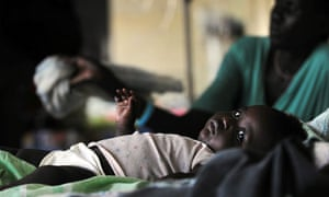 MDG: A malaria-infected baby