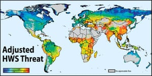 Map of global threats to human water security produced by River Threat, 2010