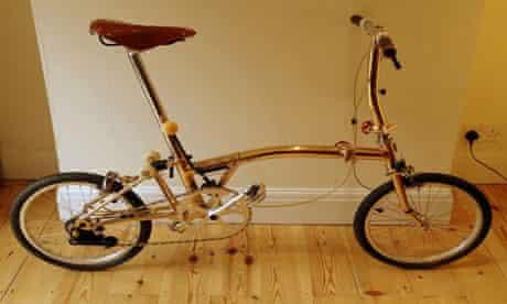 Bike blog : the gold brompton folding bike
