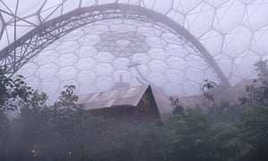 Damian Blog on Geothermal in Cornwall : Inside on of the biodomes in the Eden Project