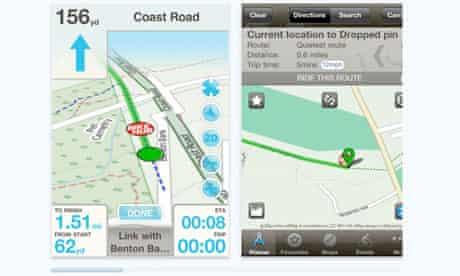 Bike Blog : The Bike Hub 'cycle satnav' app