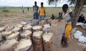 MDG : WFP emergency relief food in Karamoja, Uganda