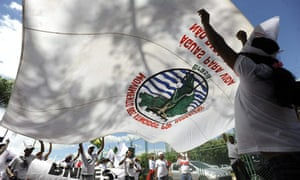 Rally against construction of the Belo Monte dam project world's largest hydroelectric dam