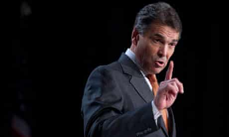 Republican presidential hopeful Texas Gov. Rick Perry