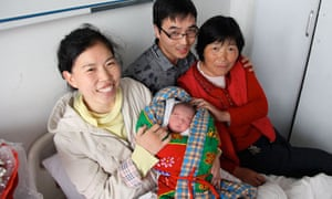 China one child policy : Li Tianhao gave birth to a baby boy , Henan province , China