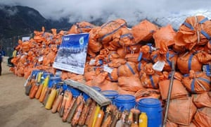 Suzanne in  Nepal : Saving Mount Everest Clean-Up Expedition Team