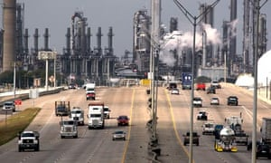 US oil industry : Shell Oil Company's Deer Park refinery and petrochemical facility in Texas