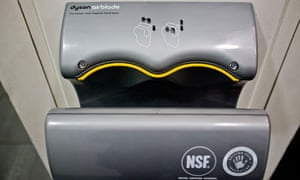 The Airblade, a high-speed hand dryer for public toilets from Dyson