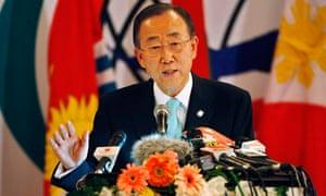 Ban Ki-moon speaking in Thailand