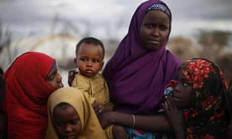 Somali girls in  Refugee Camp, Dabaab, Kenya