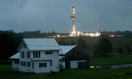 Fracking for shale gas in Forest Lake, Pennsylvania