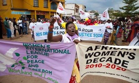 MDG : Violence against women : World March of Women Bukavu , South Kivu , DRC