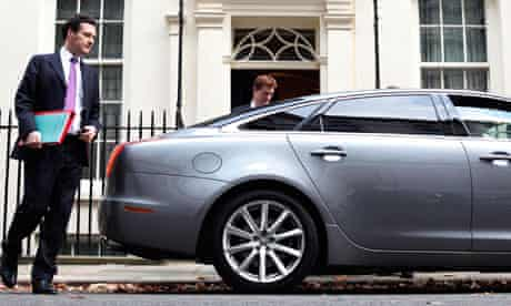 Damian blog : George Osborne and  Danny Alexander leaving for Autumn statement 2011 at parliament
