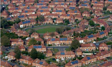 mass installation of solar panels onto residents houses, Broxtone, Nottingham
