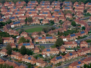 mass installation of solar panels onto residents houses in Broxtowe near Nottingham