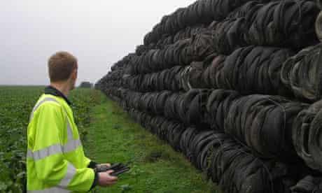 tyre dump in  UK