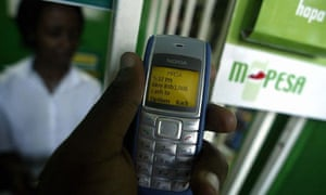 MDG : cash transfer programme  : M-PESA cell phone finance in Kenya