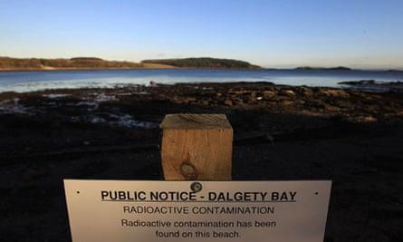MoD nuclear pollution  At Former Military Airfield Dalgety Beach