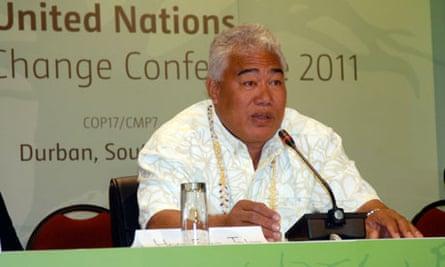 COP17 in Durban : The Ulu o Tokelau (Head of Government), Hon. Foua Toloa