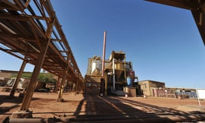 MDG : France's state-owned nuclear giant Areva's uranium mine in Arlit , Niger