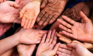 MDG: Future : Palm hand, diversity