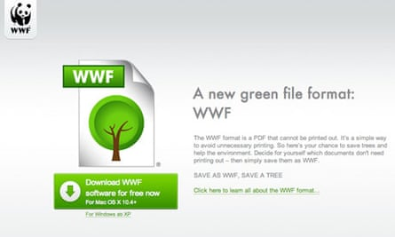 Damian blog : The WWF format is a PDF that cannot be printed