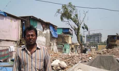 MDG : destruction of Ganesh Krupa Society in Golibar slum, Mumbai, India