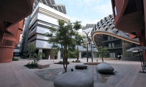 Masdar City project featuring renewable energy technologies in Abu Dhabi