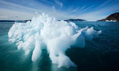 Arctic melting ice : Icebergs, Disko Bay, Greenland