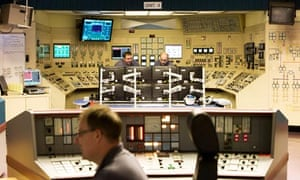 Carbon Capture CCS in Scotland : The main control room at Longannet Power Station