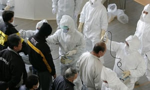Japan Earthquake and Tsunami : Evacuees receive radiation scans: Fukushima nuclear power plant