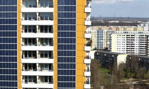 Solar Energy : Solar Panel Production in Germany : Photovoltaic Facade At Berlin Twin Towers