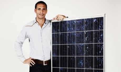 Rio Ferdinand with Eon solar panel
