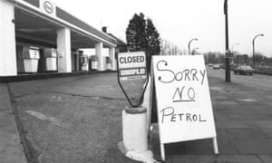 Chris Hume return of the 70s : No Petrol at petrol station