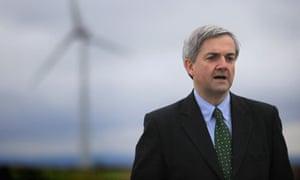Energy Secretary Chris Huhne Visits Delabole Wind Farm