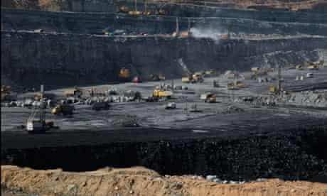 Coal open cast mine near Ordos, Inner Mongolia province, China