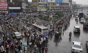 MDG : Bangladesh Infrastructures :  road traffic in Dhaka