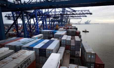 Felixstowe container port
