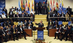 MDG : South America : Brazilian President Luiz Inacio Lula Da Silva (C) at UNASUR Summit