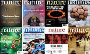 Nature magazine covers