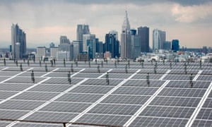 Japan renewable energy : Solar Panels Are Displayed At Itochu Headquarters Tokyo