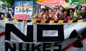 Fukushima nuclear power plant accident : Anti-nuclear rally in Tokyo