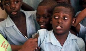 MDG : GAVI :  vaccination campaign in Port-au-Prince , Haiti